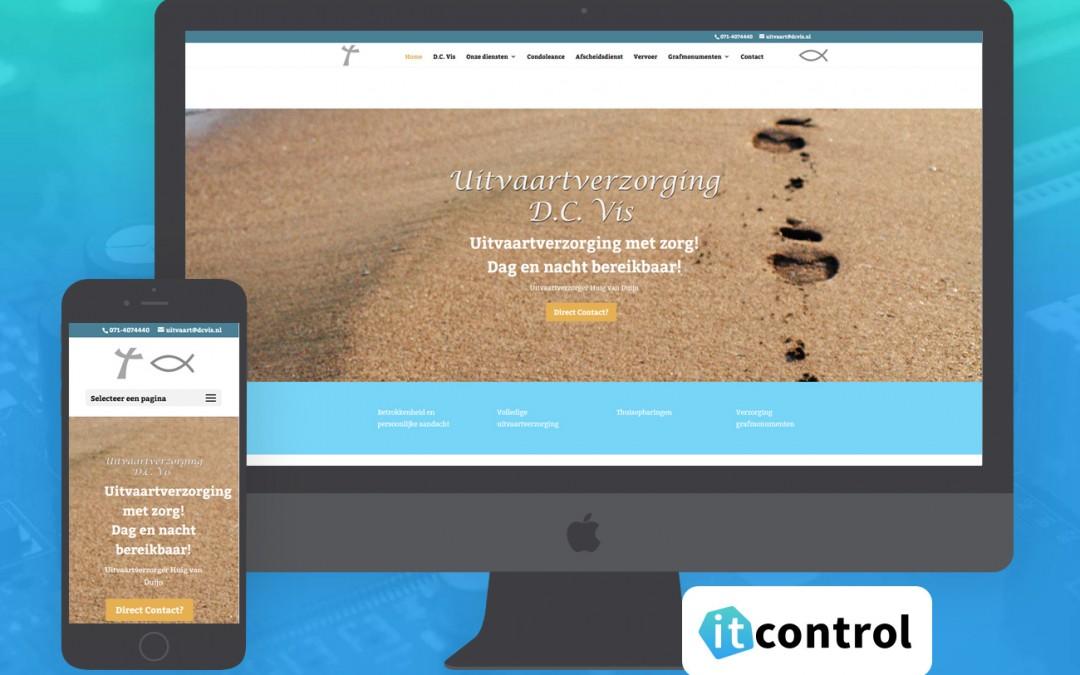 Website voor Uitvaartverzorging Huig van Duijn