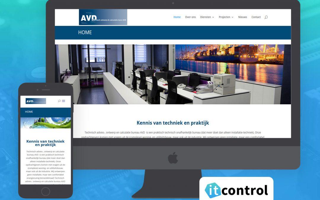 Website voor www.technischadviesbureau-avd.nl