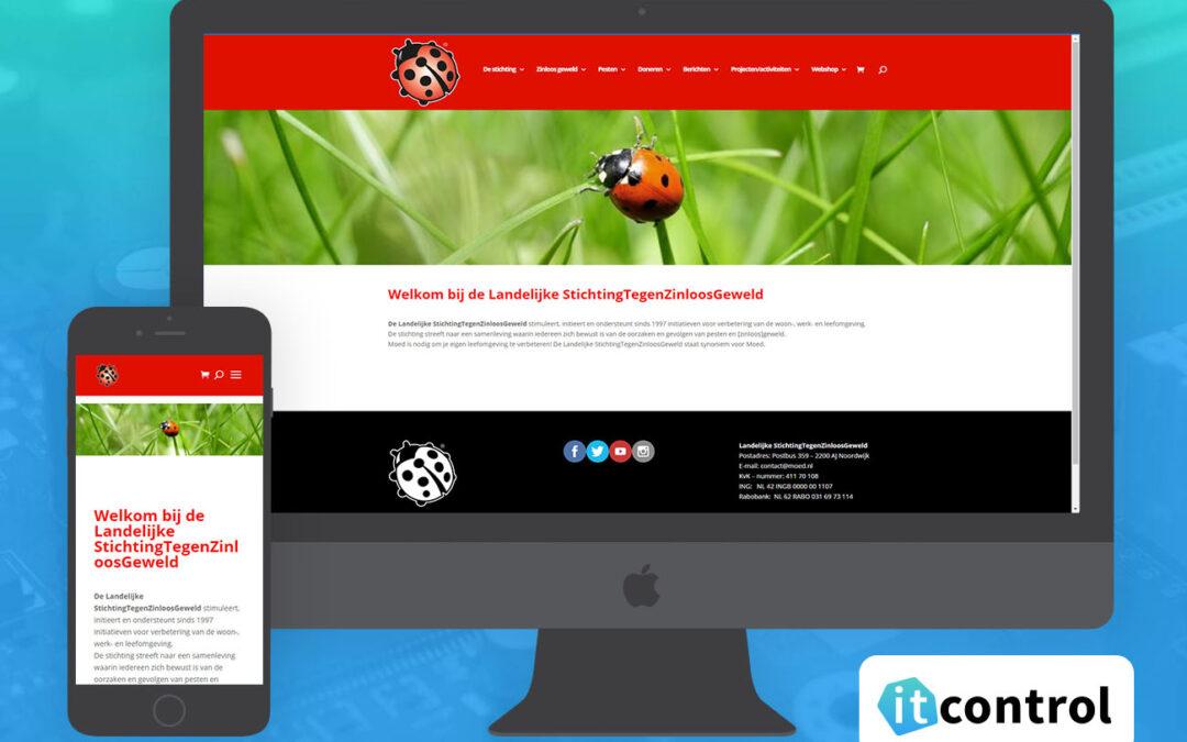 Website voor stichting tegen zinloos geweld